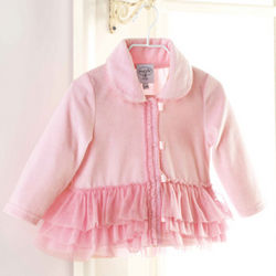 Baby Pink Velour Coat