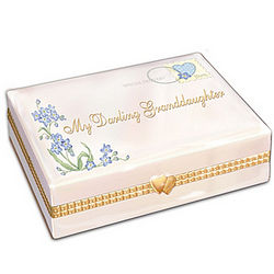 My Darling Granddaughter Letter-Shaped Porcelain Music Box