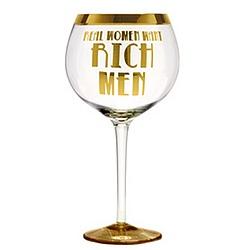 Real Women Want Rich Men Oversized Wine Goblet