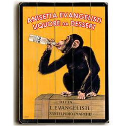 Drunk Monkey Vintage Liquor Personalized Sign