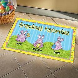 Personalized Easter Bunnies Doormat
