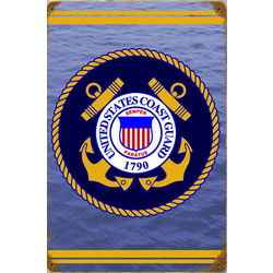 Coast Guard Metal Sign
