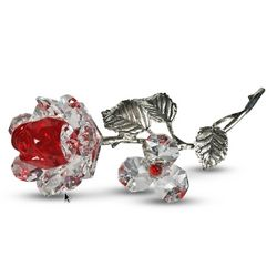 Crystal Milano Red Rose