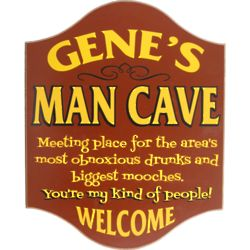 Personalized Obnoxious Drunks Man Cave Sign