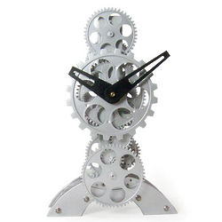 Modern Gears Table Clock