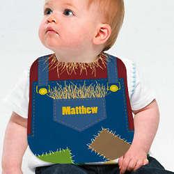 Personalized Scarecrow Baby Bib