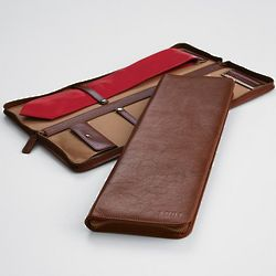 Leather Excursion Tie and Accessories Case