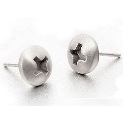 Phillips Head Screw Earrings