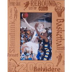 Personalized Wooden Basketball Frame
