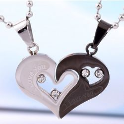 Personalized Couple Necklace for Two