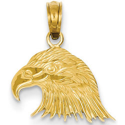 14 Karat Gold Small Eagle Head Pendant