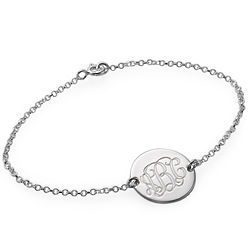 Personalized Monogram Sterling Silver Bracelet