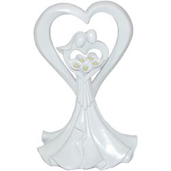 Love's Embrace Calla Lilly Resin Cake Topper