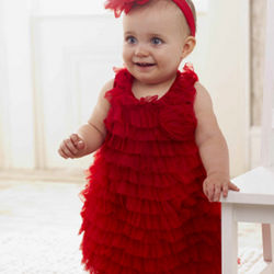 Baby Red Chiffon Dress
