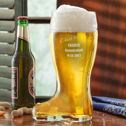 Groomsmen's 1-Liter Personalized Beer Boot