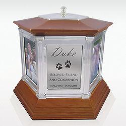 Small Rotating Photo Memories Cremation Urn