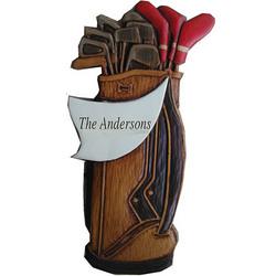 Personalized Golf Bag Plaque