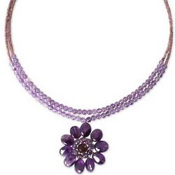 Chrysanthemum Amethyst Necklace