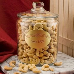 2.5 Pounds of Giant Cashews in a Glass Jar