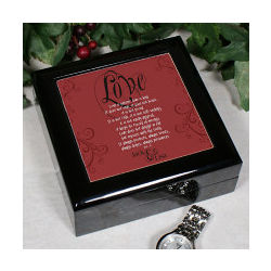 """Love Is"" Valentine Wooden Box"