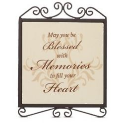 Blessed with Memories Sympathy Plaque