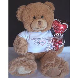Personalized Valentines Forever Teddy Bear