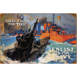 Enlist in the Navy Metal Sign
