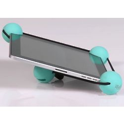 Stabalizing Shock Absorbing Tablet Holder in Blue