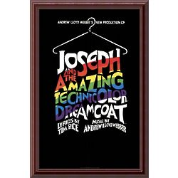 Joseph and the Amazing Technicolor Dreamcoat Framed Print