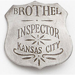 Kansas City Brothel Inspector Badge