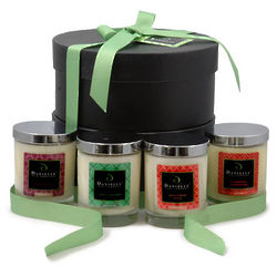Festive Holiday Beeswax and Soy Candles