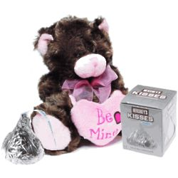Be Mine Plush Valentine Bear with Chocolate Kiss