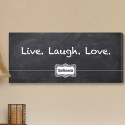3 L's Blackboard Canvas Art Print