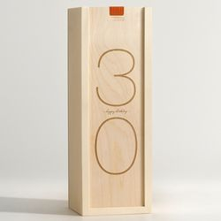 Chic Birthday Digits Personalized Wine Box