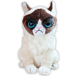Grumpy Plush Cat