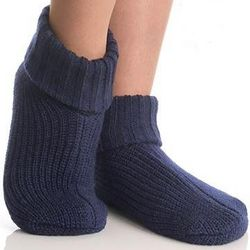 Blue Non-Skid Slippers Set