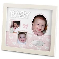 Baby Wood Shadowbox Picture Frame