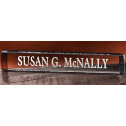 Personalized Crystal Nameplate
