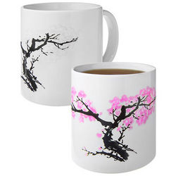 Pink Blossoms Heat Change Mug