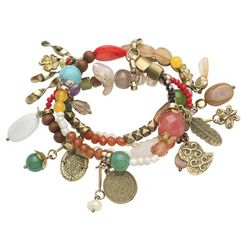Semi-Precious Stones Stretch Bracelet