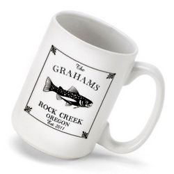 Personalized Trout Coffee Mug