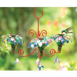 Large Handcrafted Blossom Chandelier Hummingbird Feeder