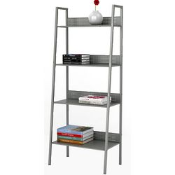 4 Tier Angled Ladder Shelving In Moon Mist