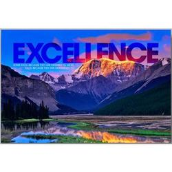 Excellence Mountain Motivational Art Print