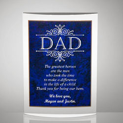 Dad Gift Plaque with Poetry Inscription