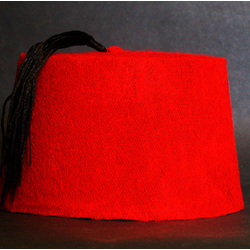 Red or Black Fez Hat
