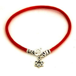 Red Kabbalah String Bracelet with Star of David