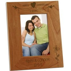 Charming Anniversary Day Wood Photo Frame