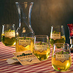 Personalized Wine Delights Goblets