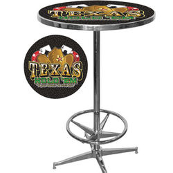 Pub Table with Texas Hold 'Em Design
